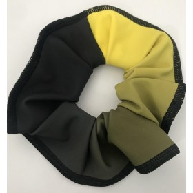 Black /Yellow Ombre Scrunchie